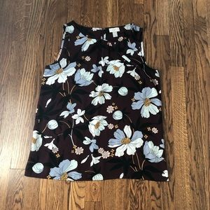 🌼3 for $8 - maroon floral tank